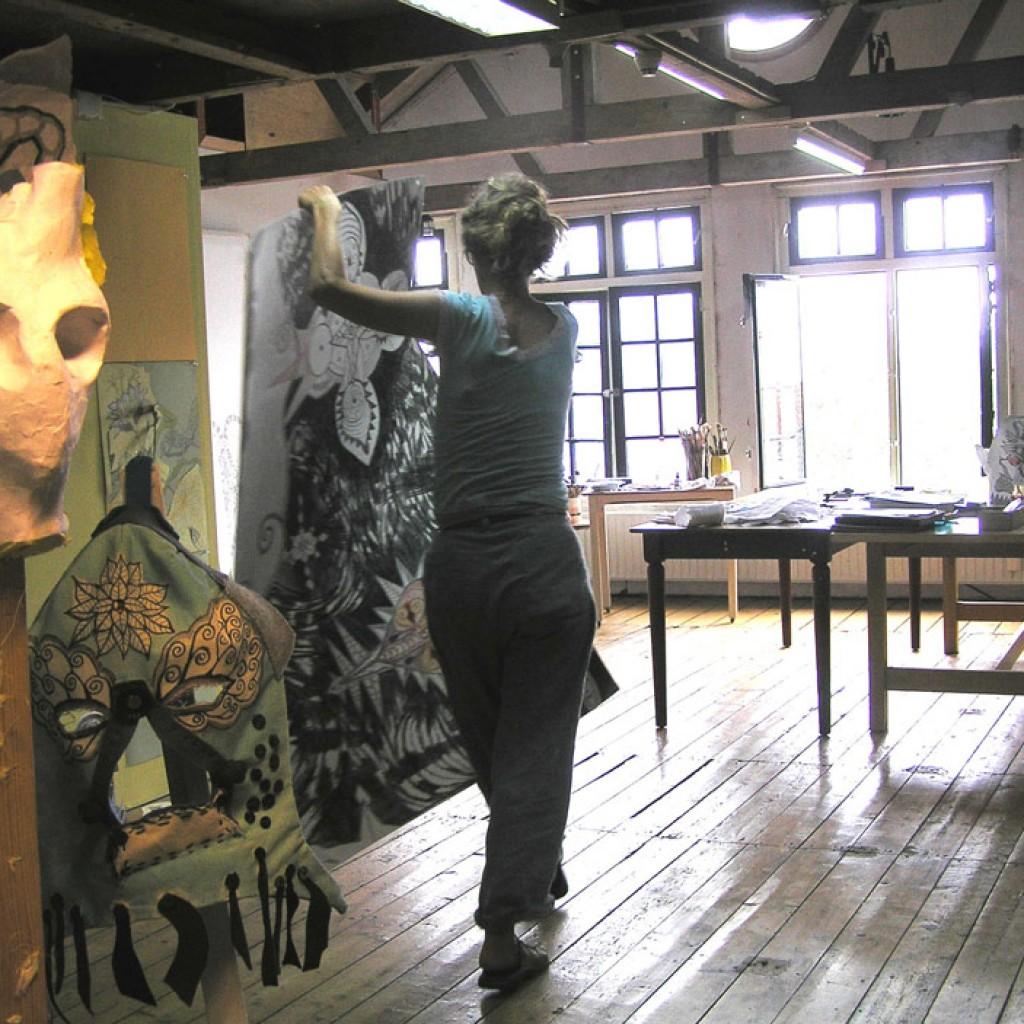 Atelier in het voormalig Kaaspakhuis